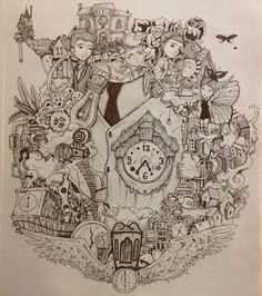 """A friend made a drawing from the movie """"Jack the boy with the cuckoo clock heart."""" http://ift.tt/21nzY8c"""