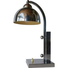 Art deco lamp, made of chrome, 1930 - 1940.