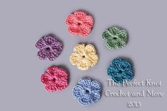 Pretty Flowers Applique Motif By The Perfect Knot Crochet & More - Free Crochet Pattern With Website Registration - (craftsy)