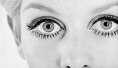 Twiggy. All eyes.