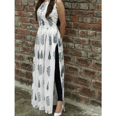Shop online White and green block printed cape Block print malmal maxi in twin block print fully lined Kurta Designs Women, Kurti Neck Designs, Kurti Designs Party Wear, Latest Kurti Designs, Simple Kurti Designs, Salwar Designs, Dress Indian Style, Indian Dresses, Indian Outfits