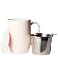 T2 Teaset Mug W/Infuser And Lid Pale Pink