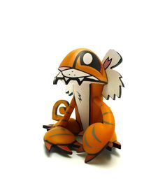 """Tiger"" | Chinese Zodiac | Artist: Joe Ledbetter. #joeledbetter #vinyltoy #kidrobot #toy"