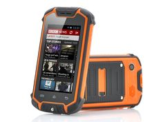 Mini Nano Rugged Mobile Phone with Android 4.2 - 2MP Rear Camera, Water Resistant, Bluetooth (Orange)