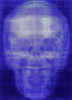 Self-portrait, x-ray, oil on canvas, Alison Van Pelt