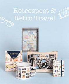 Retrospect & Retro Travel Collection by Molly & Rex Retro, Fun, Gifts, Travel, Collection, Fin Fun, Presents, Voyage, Trips