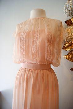 vintage Oscar de la Renta couture silk chiffon dress...I want this!