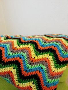 46 x 54 Geometric colorful chevron zigzag by NesrinArt on Etsy, $190.00