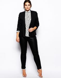 """subtle patterned tops are everything . It makes a """"stuffy"""" outfit more unique ."""
