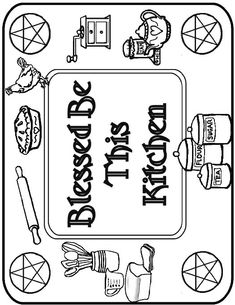 Blessed Be This Kitchen coloring page