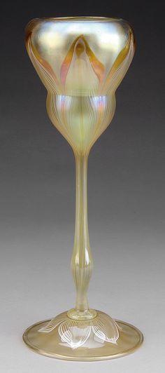 Art Nouveau ~ Quezal art glass