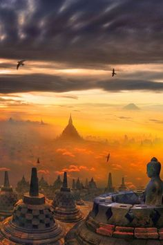 garywonghc: Borobudur, or Barabudur, is a 9th-century Mahayana...