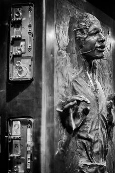 Han Solo frozen in carbonite from Star Wars: The Empire Strikes Back (1980)