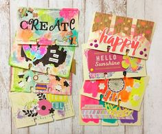 DIY FriYay Altered Rolodex Cards — Rebecca Janousek                                                                                                                                                     More