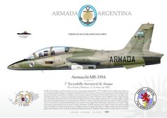 Argentina Air Force Aermacchi MB-339A who drowend HMS Agronaut ( Malvinas War 1982)