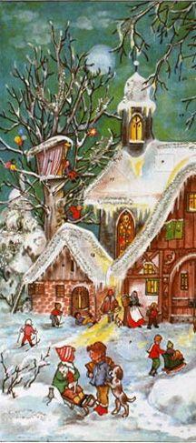 Christmas cottage advent calendar ~ Germany, Merry Christmas www.ricopiel.myrandf.com