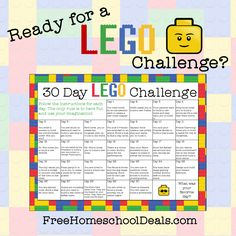Are you ready for a LEGO Challenge? If you live with LEGO fans, issue them a 30-Day LEGO Challenge and let their imaginations run wild! ** Make sure y