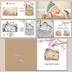 "Pickleberrypop :: Layout Templates :: Tiramisu design ""Bloom Jazz"" 10x10 Photobook (Photographer's Use OK)"