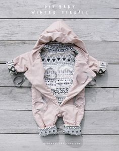 No Home Without You DIY baby winter overall jump suit