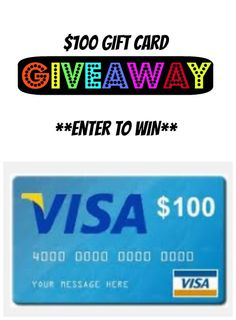 Enter to WIN a $100 Visa Gift Card  http://www.isavea2z.com/100-visa-gift-card-giveaway/