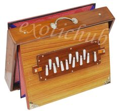 "SHRUTI BOX~BIG SIZE (16"" X 12"" X 3"")~TEAK WOOD~SWAR PETI~DRONE~C TO C~440 Hz~EHS #KaaynaMusicals"