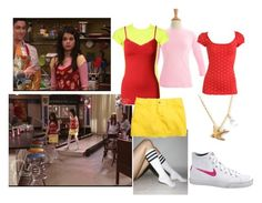 """Alex Russo [Selena Gomez](Set94)"" by jacdewolfe ❤ liked on Polyvore featuring Disney, Wet Seal, American Apparel, NIKE, wizards of waverly place, disenchanted evening and selena gomez"