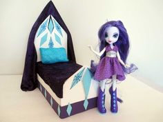 ▶ How to make a Rarity Doll Bed Tutorial/ My Little Pony - YouTube