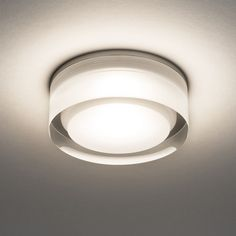 Vancouver 90 round LED ceiling light in a clear acrylic finish. Suitable for bathroom zones 2 and Constant current driver required. Round Led Ceiling Light, Led Recessed Ceiling Lights, Ceiling Pendant, Vancouver, Astro Lighting, Spot Plafond, All Of The Lights, Transparent, Interior Lighting