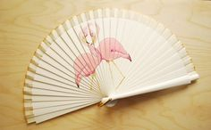 Hey, I found this really awesome Etsy listing at https://www.etsy.com/listing/230967179/flamingo-hand-fan-wedding