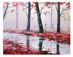 ARBRES peinture arbres paysage Original huile par GerckenGallery