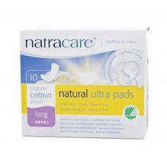 Absorvente orgânico Natracare Long com abas Ultra Pads com 10 absorventes- Lohas Store