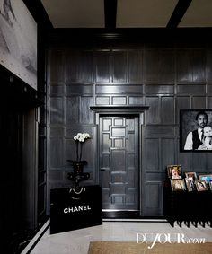 DuJour tours the luxurious home of the most glamorous heiress in today's tabloids, Tamara Ecclestone. Pictured: A Chanel bag sculpture, from the Guy Hepner gallery in L.A., sits in a hallway outside the nightclub