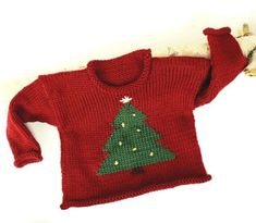 Childrens, Babies/ Toddlers Knitted Christmas jumper pattern ...