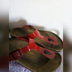 7d40f0a9d425 RED & BLACK BIRKENSTOCK • Red & Black Birkenstock • Size 39 - Depop Black  Birkenstock