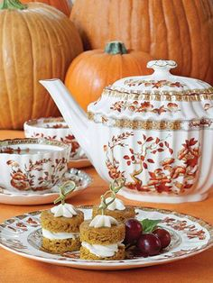 An Autumn Afternoon Tea: Celebrating a Glorious Season When the colors change and the air cools, celebrate the season with an Autumn Afternoon Tea. Simple and memorable fall recipes for a tea you won't forget. Autumn Tea, Autumn Cozy, Autumn Harvest, Tea Recipes, Fall Recipes, Autumn Brunch Recipes, Coffee Time, Tea Time, Coffee Cup