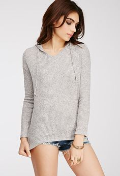 Marled Knit Hoodie | FOREVER21 - 2000053977