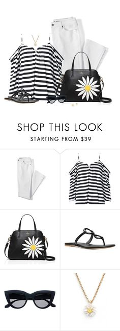 """Over 50 Fashion set #1"" by sherry7411 ❤ liked on Polyvore featuring Lands' End, Nicole Miller, Kate Spade, Michael Kors and fashionover50"