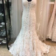Sexy Strapless Lace Fit & Flare Wedding Dress • Ava's Bridal Couture Affordable Bridal, Fit And Flare Wedding Dress, Bridal Salon, Bridesmaid Dresses, Wedding Dresses, Lace Applique, Fitted Bodice, Ava, Short Dresses