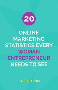 20 Online Marketing Statistics Every Woman Entrepreneur Needs to See | You may have a sense of what stats are important but have you learned which ones REALLY matter when it comes to your blog and biz? Check out these stats or save it for later so you can make sure you have all you need to know! | Blogging Tips | Entrepreneur