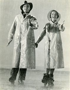 "Rainwear, 1952. Press photo for ""Singing in the Rain"". Evenig Bulletin."