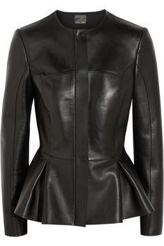 Fendi Peplum Leather Jacket