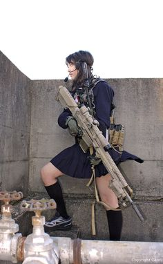Airsoft hub is a social network that connects people with a passion for airsoft. Talk about the latest airsoft guns, tactical gear or simply share with others on this network Cosplay Anime, Cosplay Girls, Military Women, Military Fashion, N Girls, Cute Girls, Gunslinger Girl, Female Soldier, Warrior Girl