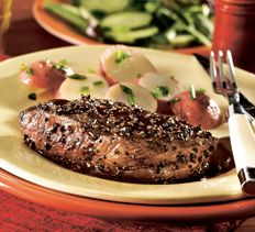 Balsamic Peppered Sirloin > Cooking Club of America