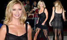 Rachel Riley teases leg in fringe dress at GQ Men of the Year Awards