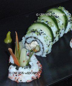 Some creative urimaki sushi by Crea Sushi Workshops. https://www.facebook.com/crea.sushiworkshops?ref=hl