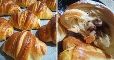 Egyszerű croissant recept, nem kell hajtogatni, mégis gyönyörű leveles – Közösségi Receptek Croissant, Nutella, French Toast, Breakfast, Food, Morning Coffee, Essen, Crescent Roll, Meals
