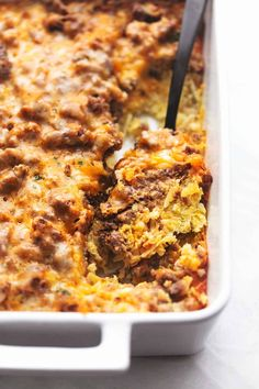 Hash brown and sausage breakfast casserole will see you through your toughest mornings when another bowl of cereal just won't do. The best part is the hash browns — they'll stay nice and toasty even after combining with the cheese, sausage, and eggs. Easy Breakfast Casserole Recipes, Breakfast Casserole Sausage, French Toast Casserole, Brunch Recipes, Baby Food Recipes, Cooking Recipes, Xmas Recipes, Milk Recipes, Easter Recipes