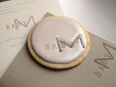 SweetAmbs Monogram cookies