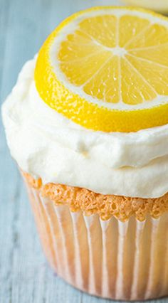 Lemon Angel Food Cupcakes Recipe ~ The texture of these cupcakes is delicately airy and light which pairs so well with the fresh and tart lemon flavor
