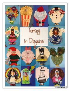 THANKSGIVING: TURKEY IN DISGUISE - TeachersPayTeachers.com